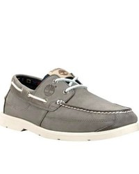 c1e49a186 Men's Grey Boat Shoes by Timberland | Men's Fashion | Lookastic.com