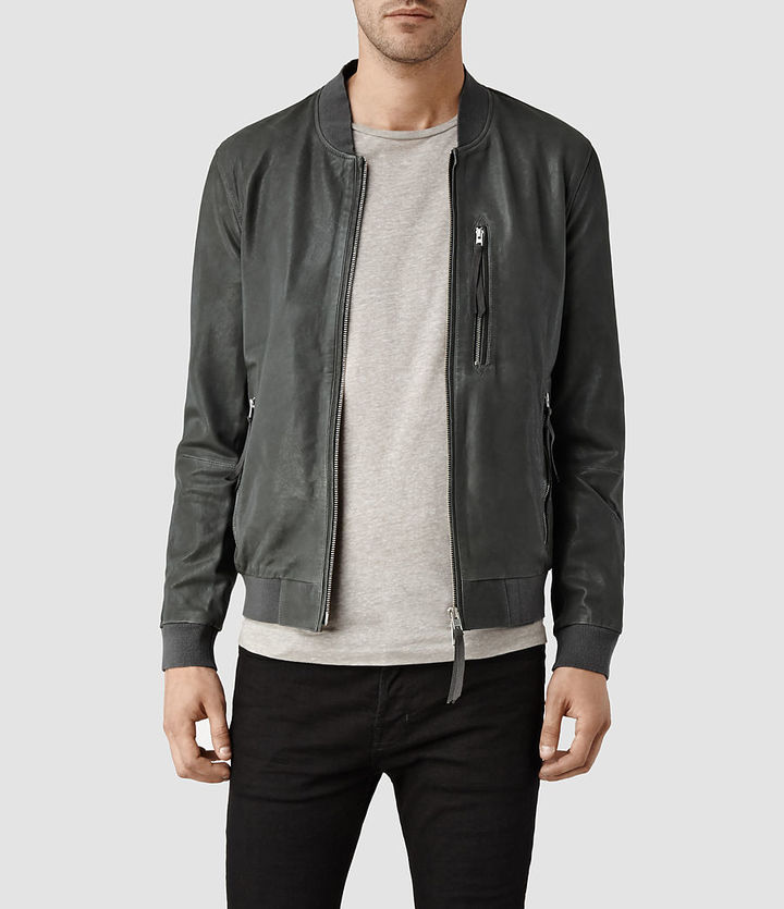 AllSaints Blythe Leather Bomber Jacket | Where to buy & how to wear