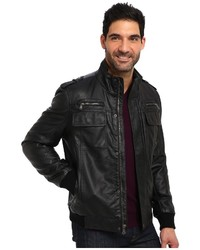 Calvin Klein Faux Leather Bomber Jacket Cm499264 | Where to buy ...