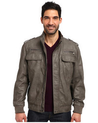Calvin Klein Faux Leather Bomber Jacket Cm499264