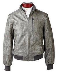 Murano Faux Leather Bomber