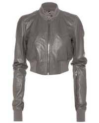 Rick Owens Glitter Flight Leather Cropped Jacket