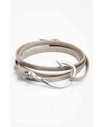 Miansai Silver Hook Leather Bracelet