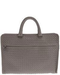Grey Leather Briefcase