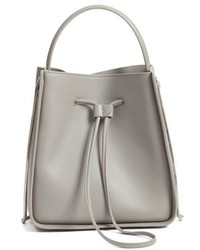 Small soleil leather bucket bag grey medium 3752764