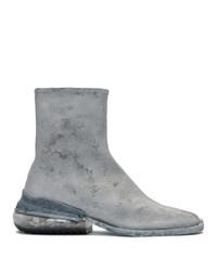 Maison Margiela Grey Paint Airbag Tabi Boots