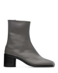 Maison Margiela Grey Tabi Mid Heel Boots