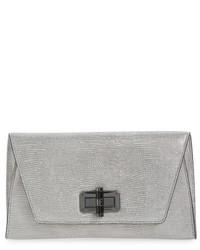 Diane von Furstenberg 440 Gallery Uptown Leather Clutch Metallic