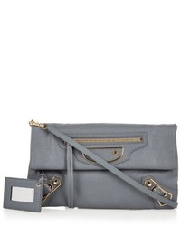 Balenciaga Classic Metallic Edge Leather Envelope Clutch