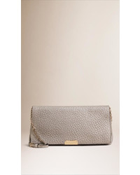 Burberry Medium Signature Grain Leather Clutch Bag