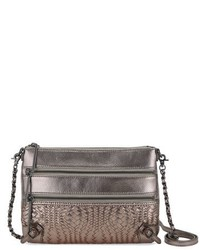 Elliott Lucca Messina 3 Zip Crossbody Clutch Ivory