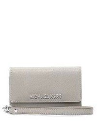 Michael Kors Michl Kors Saffiano Leather Smartphone Wristlet