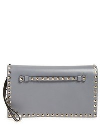 Valentino Rockstud Calfskin Leather Clutch