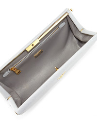 3bb75902423a Prada Saffiano East West Frame Clutch Bag Light Gray, $1,250 ...