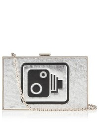 Anya Hindmarch Speed Camera Imperial Leather Clutch