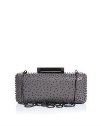 Diane von Furstenberg Tonda Studded Leather Box Clutch