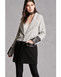 Forever 21 Wool Blend Colorblock Coat