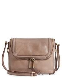Hobo Alibi Calfskin Leather Crossbody Bag Grey