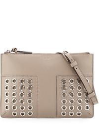 31b7420dbf08 ... Tory Burch Block T Grommet Mini Crossbody Bag French Gray