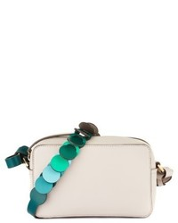 Anya Hindmarch Camera Leather Crossbody With Link Strap Grey
