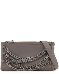 Ash Domino Chain Leather Crossbody Bag Elephant