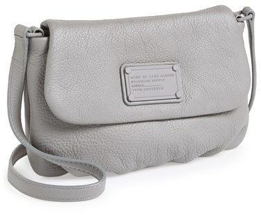 04414ee1ce4d ... Grey Leather Crossbody Bags Marc by Marc Jacobs Electro Q Flap Percy Crossbody  Bag ...