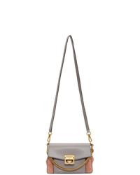Givenchy Grey And Pink Small Gv3 Bag