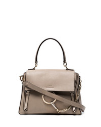Chloé Grey Faye Day Medium Leather Shoulder Bag