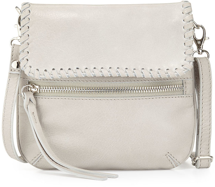 451a0bf8e158 ... Leather Crossbody Bags Neiman Marcus Made In Italy Whipstitch Trim Crossbody  Bag Light Gray ...