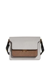 Marni Medium Trunk Colorblock Leather Shoulder Bag