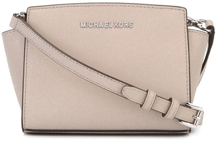 c82a392c3413 ... Grey Leather Crossbody Bags MICHAEL Michael Kors Michl Michl Kors Mini  Selma Crossbody Bag