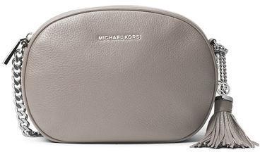 9c95ca83750279 ... Grey Leather Crossbody Bags MICHAEL Michael Kors Michl Michl Kors Ginny  Medium Leather Messenger Bag ...