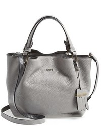 Tod's Mini Flower Leather Crossbody Shopper