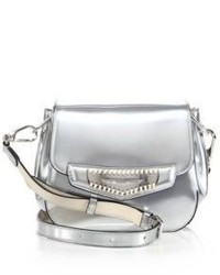 Tod's Mini Whipstitched Metallic Leather Crossbody Bag