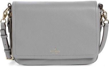 78dde40fd ... Grey Leather Crossbody Bags Kate Spade New York Cobble Hill Mayra Leather  Crossbody Bag Black ...