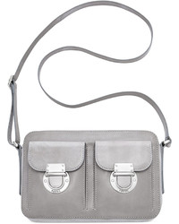 Fossil Riley Leather Top Zip Crossbody