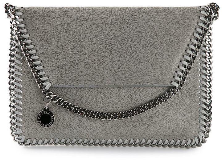 c681a924bfc0 Mini Falabella Shaggy Deer Crossbody Bag. Grey Leather Crossbody Bag by Stella  McCartney
