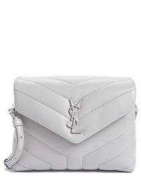 Saint Laurent Toy Loulou Calfskin Leather Crossbody Bag Black