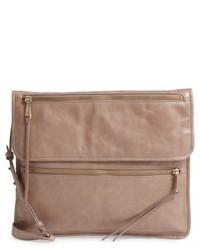 Hobo Vista Calfskin Leather Messenger Bag Grey