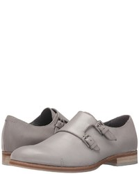 Grey Leather Double Monks