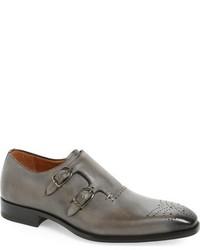 Mezlan Gris Double Monk Strap Shoe