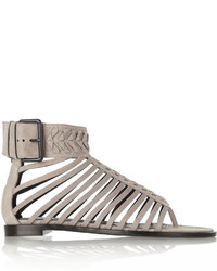 Haider Ackermann Washed Leather Gladiator Sandals