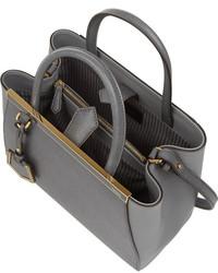 9db06484fa29 ... Fendi 2jours Small Textured Leather Shopper ...
