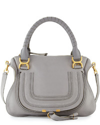 Chloe marcie medium satchel bag gray medium 468924