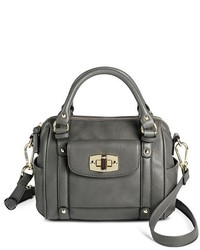Mini satchel faux leather handbag with removable crossbody strap medium 468928