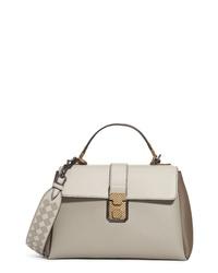Bottega Veneta Small Piazza Bicolor Leather Handbag