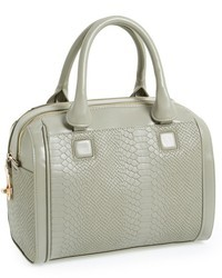 Topshop Snake Embossed Double Zip Satchel