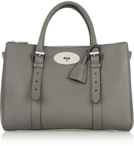 b13c0c8d19 ... Mulberry The Bayswater Double Zip Textured Leather Tote ...