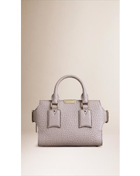Burberry The Small Clifton In Signature Grain Leather