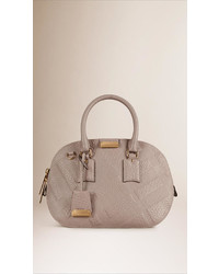 Burberry The Small Orchard In Embossed Check Leather
